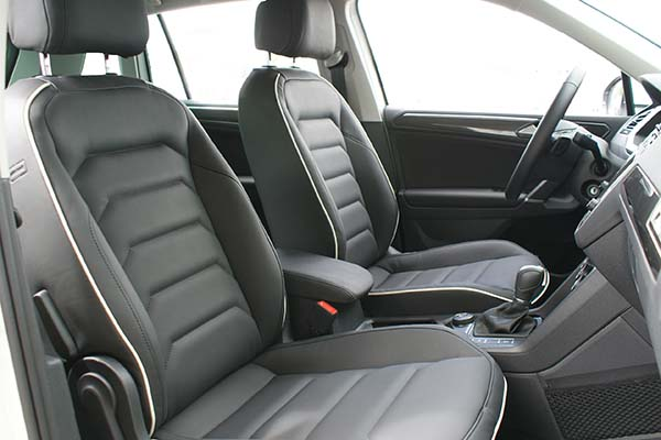volkswagen tiguan leather seats nappa leather black alba automotive
