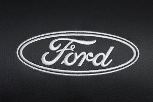 Borduring Logo Ford Wit Stiksel