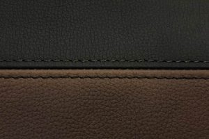 Buffalino Leder Chocoladebruin en Zwart dubbel stiksel