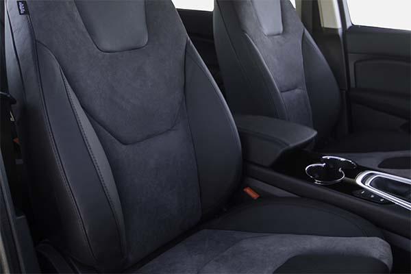 Ford S-Max Buffalino Leder Zwart Alcantara Grijs Voorstoelen