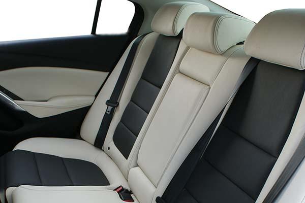 mazda 6 leather interior black and white alba automotive. Black Bedroom Furniture Sets. Home Design Ideas