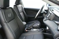 Toyota Rav 4 Buffalino Leder Zwart Geborduurd Logo Logo-Voorstoelen